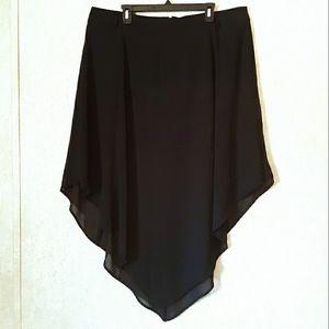 TORRID Black handkerchief hem skirt plus size 18